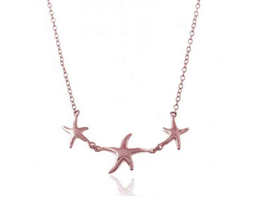 Starfish Necklace Rose Gold