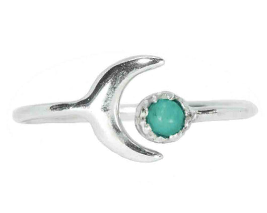 Turquoise Moon Ring
