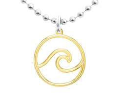 NECKLACE - WAVE CHARM GOLD