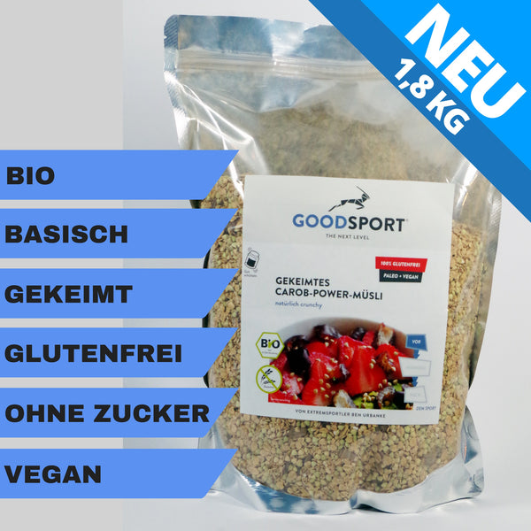 GOODSPORT Carob-Power-Müsli - 1,8 KG