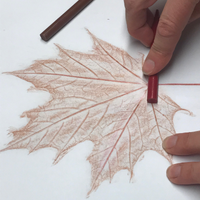 Easy Leaf Print Art