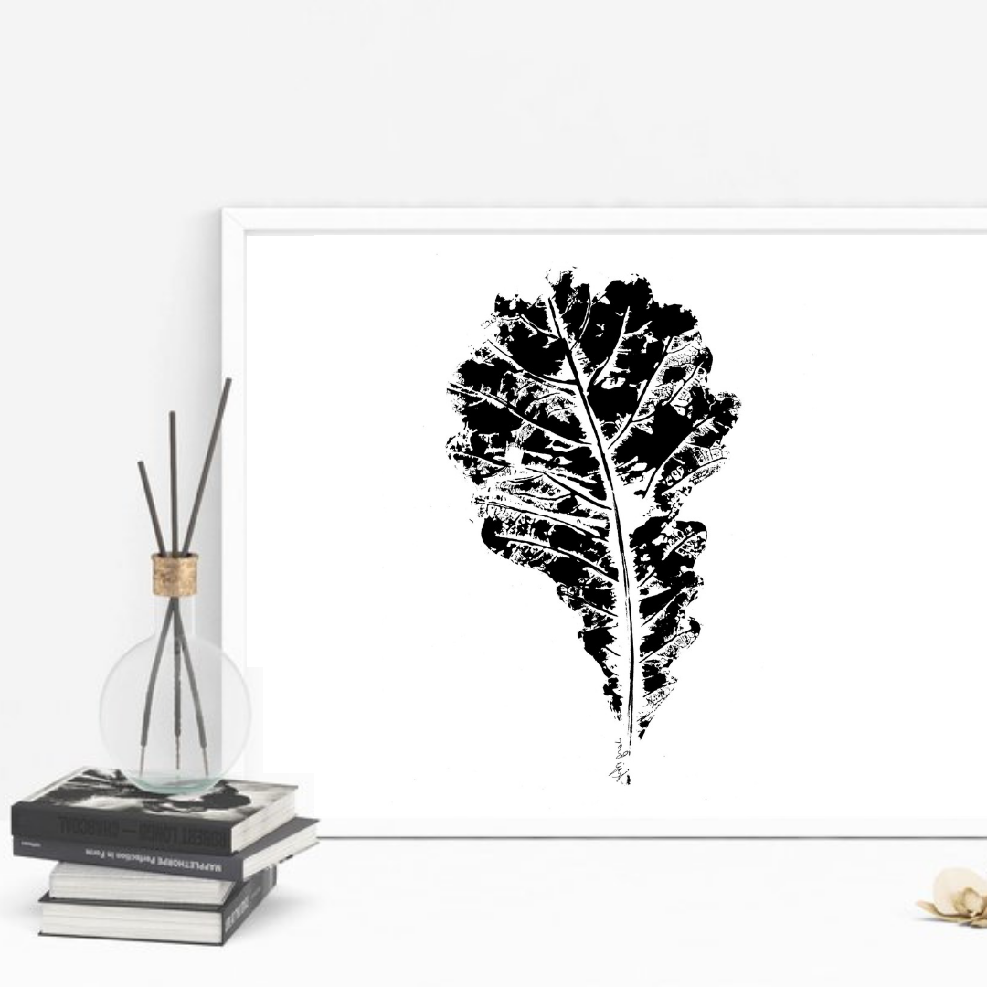 Oak Leaf Print-Brush Point Studio