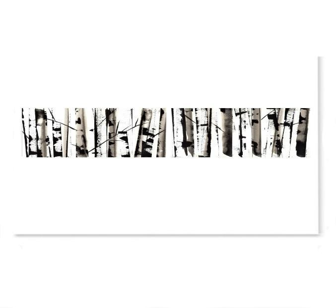 Abstract Silver Birch Trees Version 2-Prints-Brush Point Studio