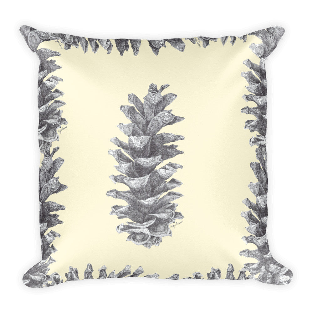 Pine Cone Print Decorative Pillow