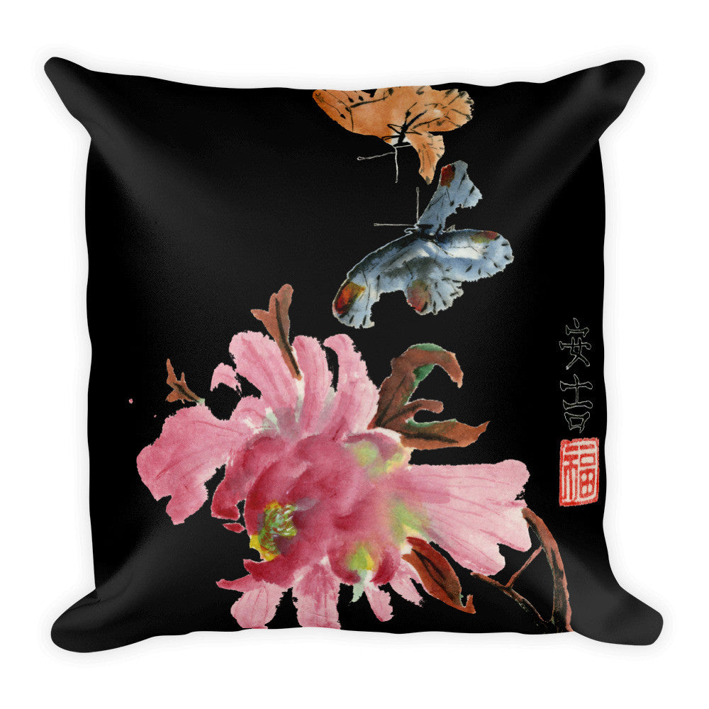 The Dance Black Decorative Pillow