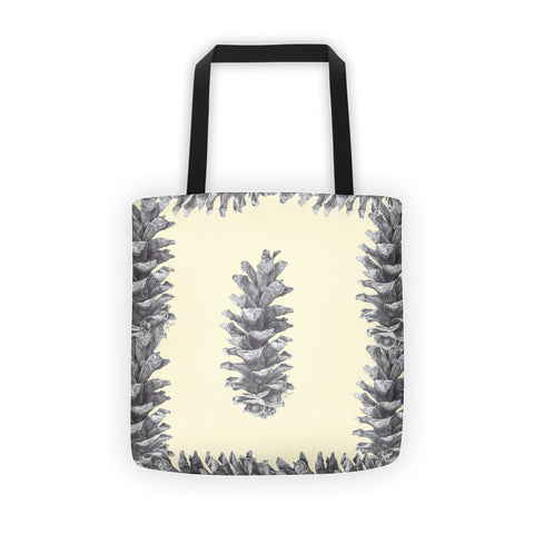 Tote bag-With pine cone print