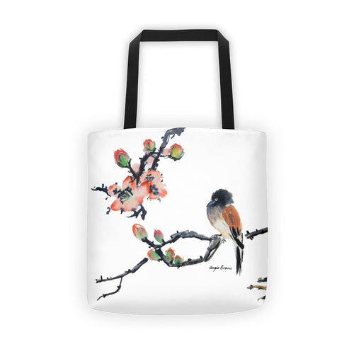 Tote bag-With Chinese Brush Painting