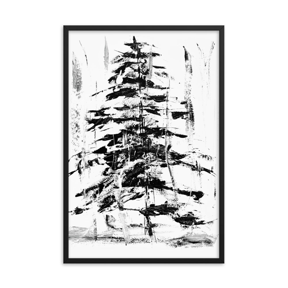 Abstract Evergreen Art Print