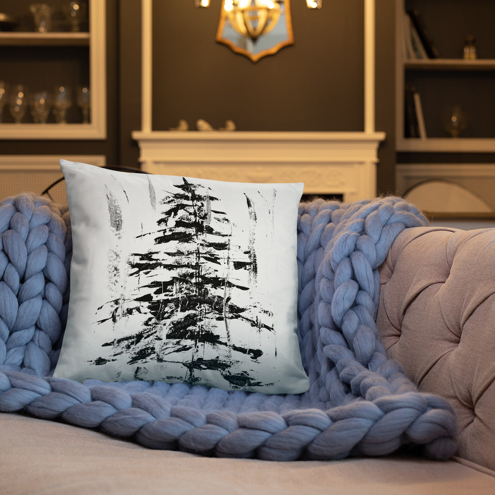 Abstract Evergreen Decorative Pillow
