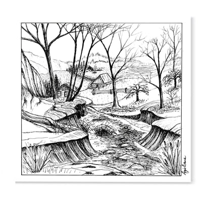 My Valley-Art Print-Brush Point Studio