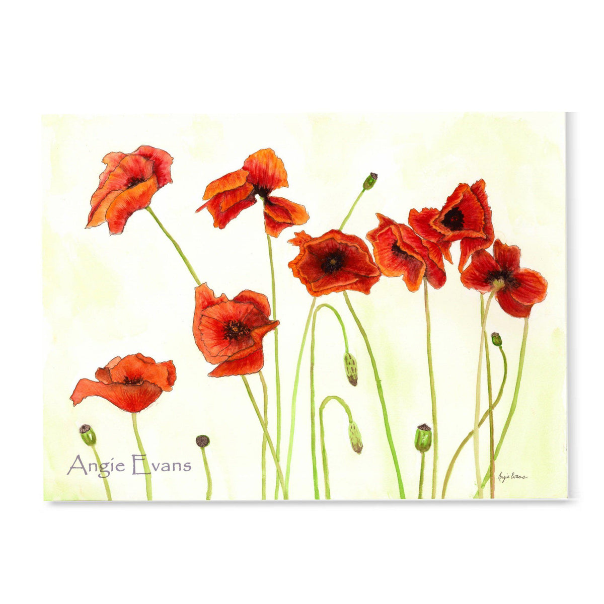 The Poppies-Art Print-Brush Point Studio