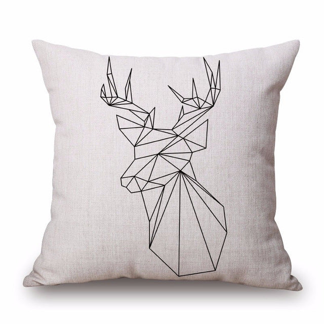 Nordic Style Deer Cushion Covers