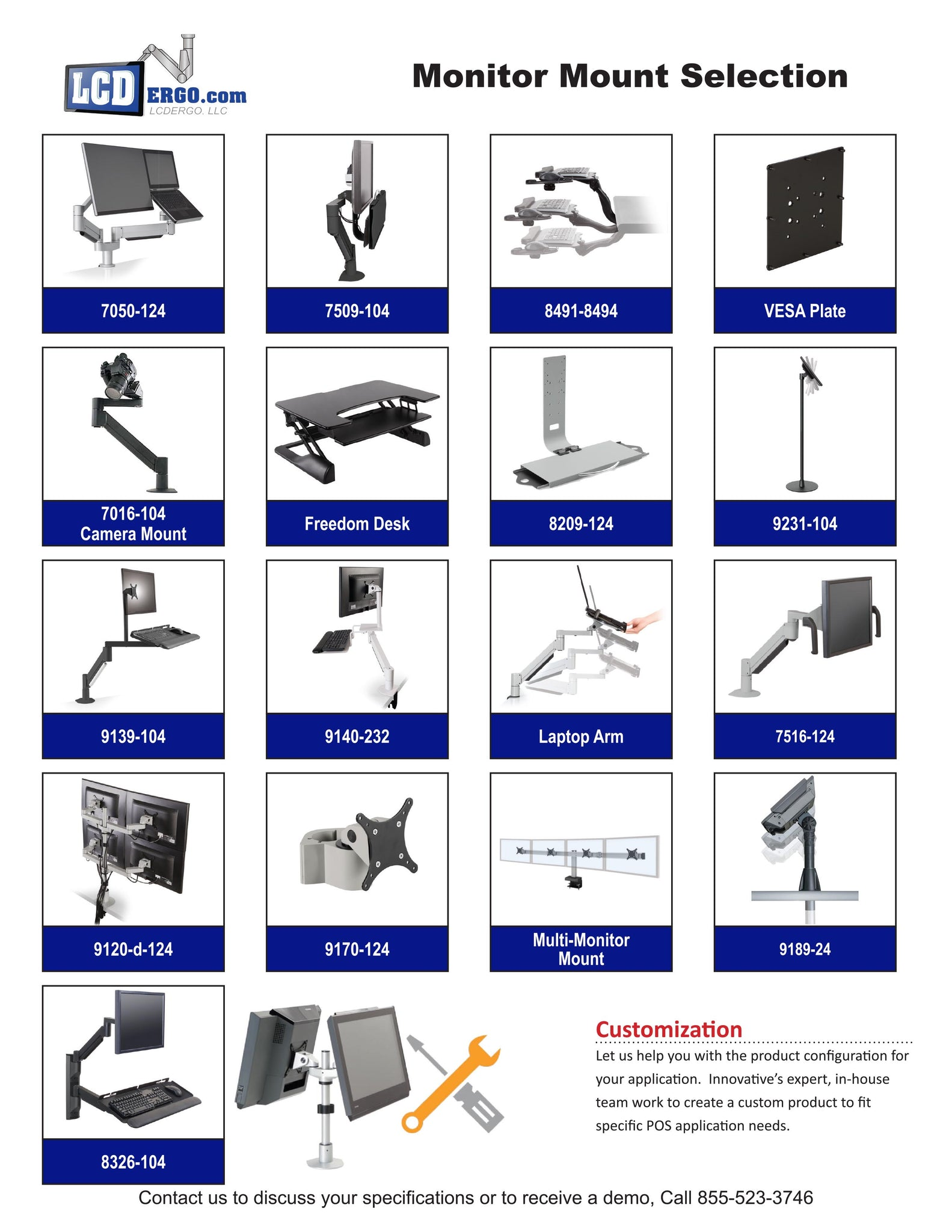 Monitor Mount Selection