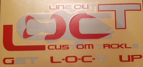 "11.5""x4.5"" reflective red and silver decal"