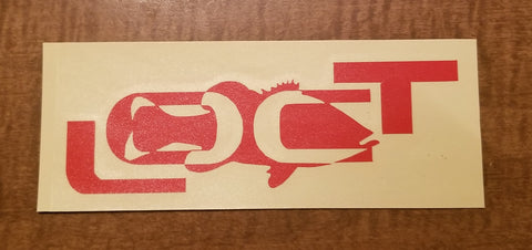 "5.5""x2"" reflective red decal"