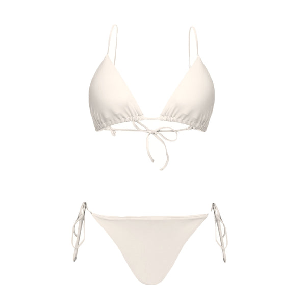 Top Triangle Off White bikini V I Z Z U O Beachwear