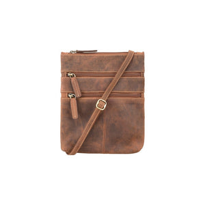 Visconti Across Body Slim Sling Leather Bag - Oil Tan