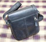 Visconti Black Leather Shoulder Bag