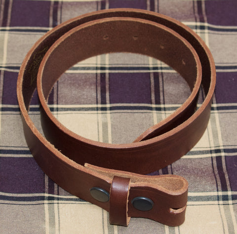 Hawkdale 100% Heavy Duty Hide Leather Belt. Black or Brown (without buckle/box)