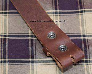 Hawkdale Mens 100% Heavy Duty Hide Brown Leather Belt Without Buckle/Box