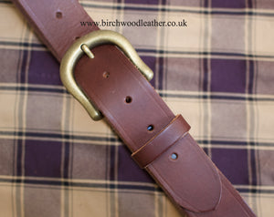 Hawkdale 100% Heavy Duty Hide Full Leather Brown Belt
