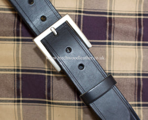 Hawkdale 100% Heavy Duty Hide Full Leather Black Belt