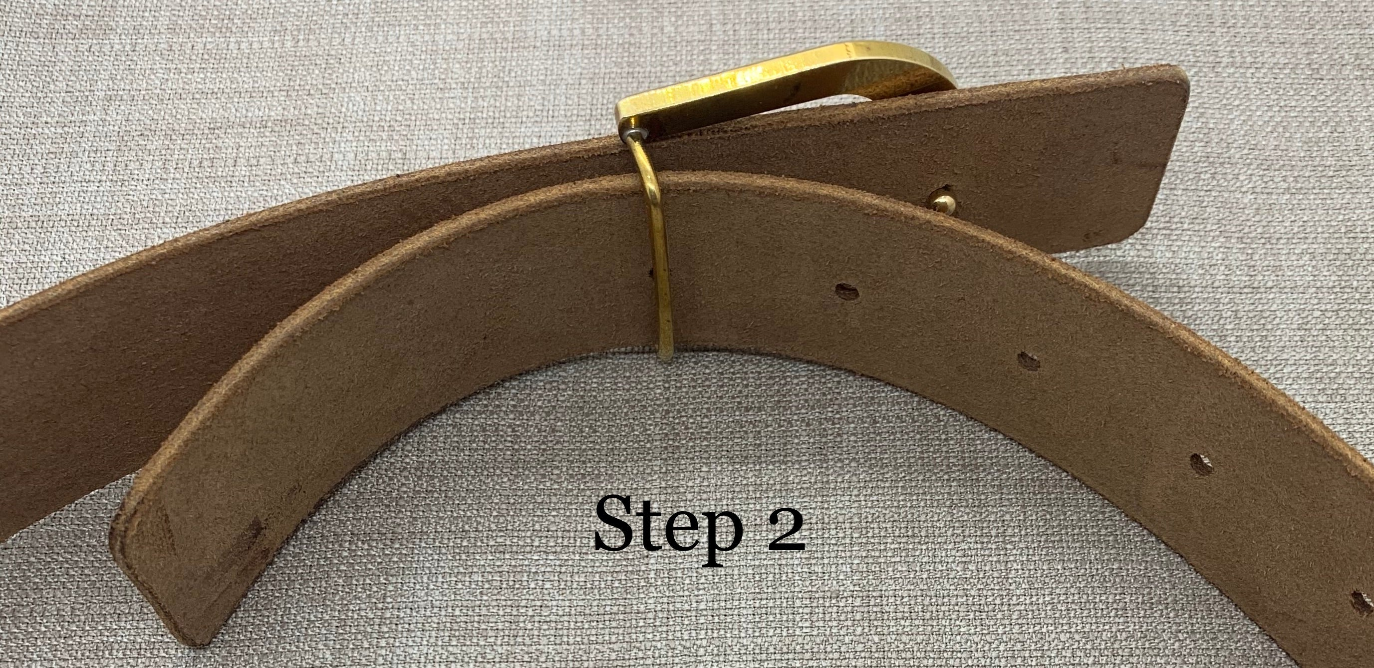 Birchwood Leather Tan 100% Vegetable Tanned Leather Belt with Solid Brass Buckle