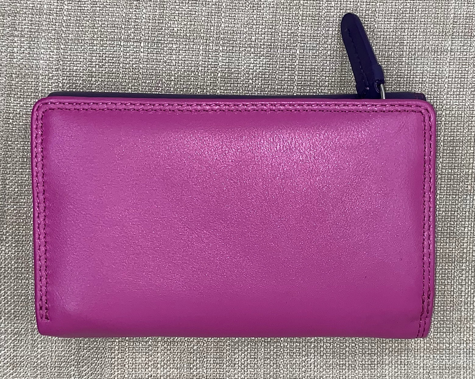 Visconti Bora Ladies Leather Two Tone Berry Coloured Purse