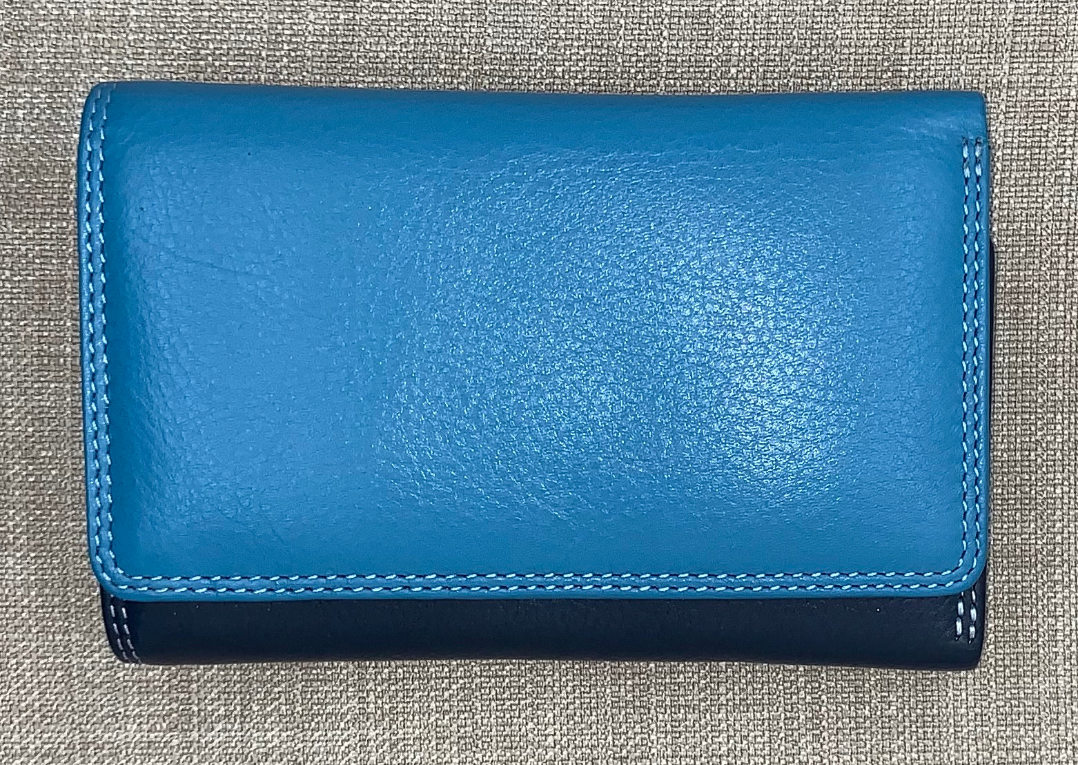 Visconti Bora Ladies Leather Two Tone Blue Coloured Purse