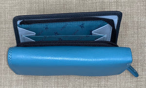 Visconti (Bora) Ladies Two Tone Blue Leather Purse