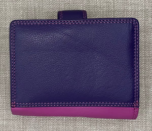 Visconti Ladies Small Two Tone Berry Leather Purse.