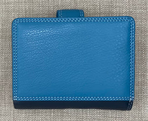 Visconti Ladies Small Two Tone Blue Leather Purse