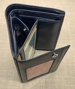 Visconti Gents Black Fold Out Leather Wallet
