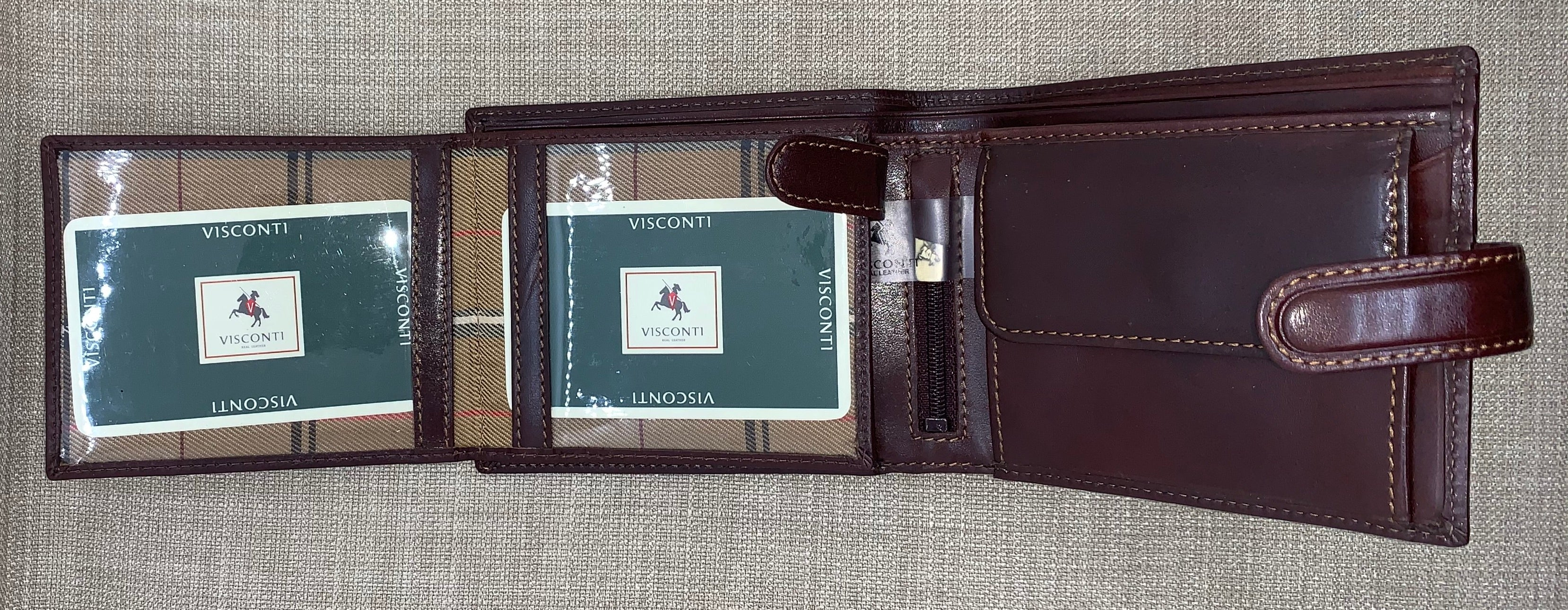 Visconti Gents Brown Studded Leather Wallet