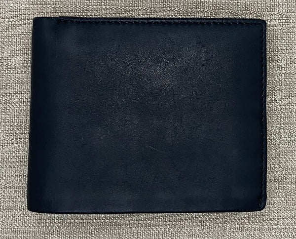 Visconti Gents Black/Cobalt Fold Out Leather Wallet