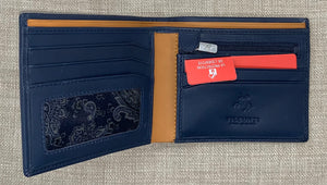 Visconti Gents Blue/Mustard Fold Out Leather Wallet