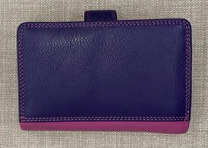 Visconti Ladies Medium Two Tone Berry Leather Purse