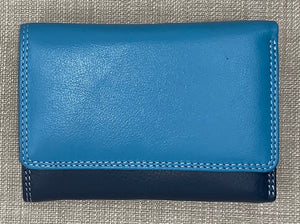 Visconti Biola Ladies Leather Two Tone Blue Coloured Purse