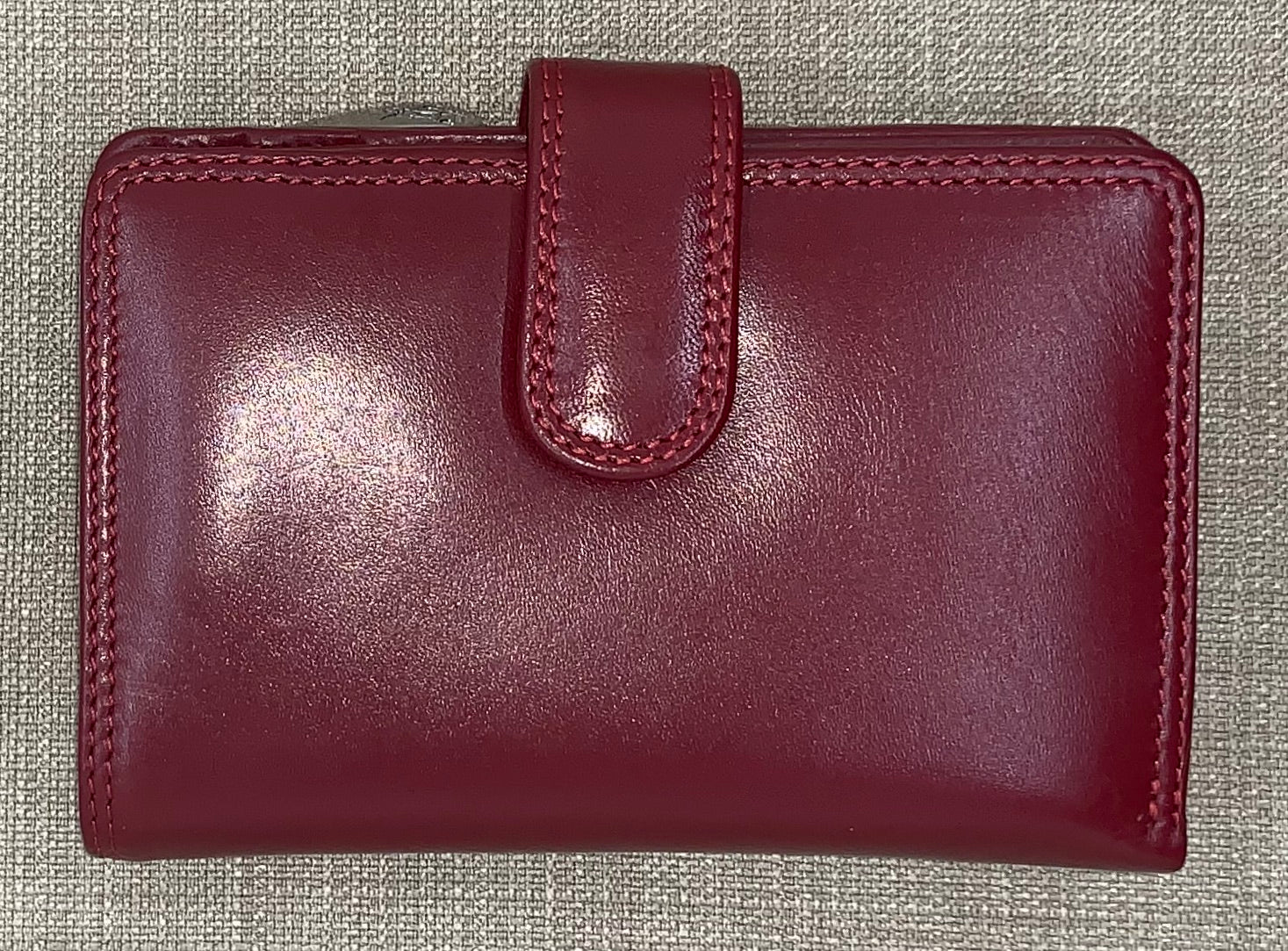 Visconti (Venice) Ladies Red Leather Purse