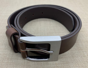 Birchwood Leather 100% soft full grain brown leather belt