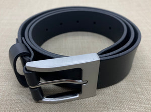 Birchwood Leather 100% soft full grain black leather belt