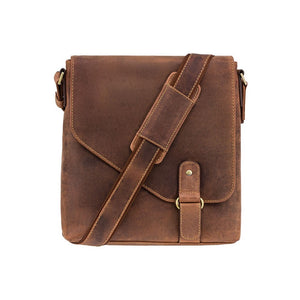 Visconti Leather Portrait Messenger Bag - Oil Tan