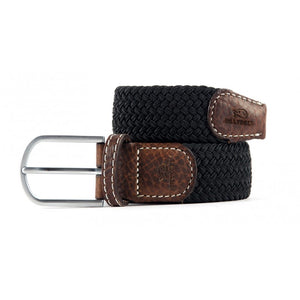 Premium Black Woven Elastic Stretch BillyBelt Belt