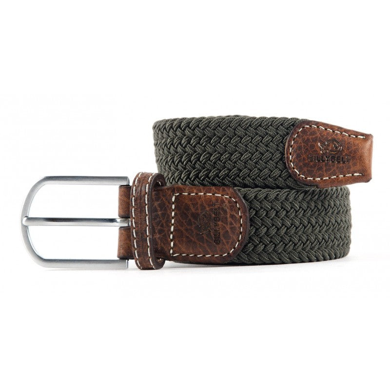 Premium Khaki Green Woven Elastic Stretch BillyBelt Belt