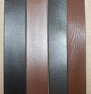 Birchwood Leather 100% soft full grain brown and black leather belts in 1.25 inch and 1.5 inch width.