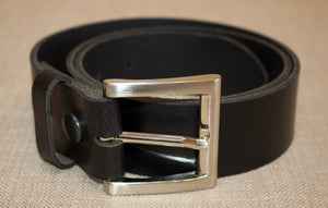 Birchwood Leather 100% Heavy Duty Hide Leather Belt. Black, Brown or Tan