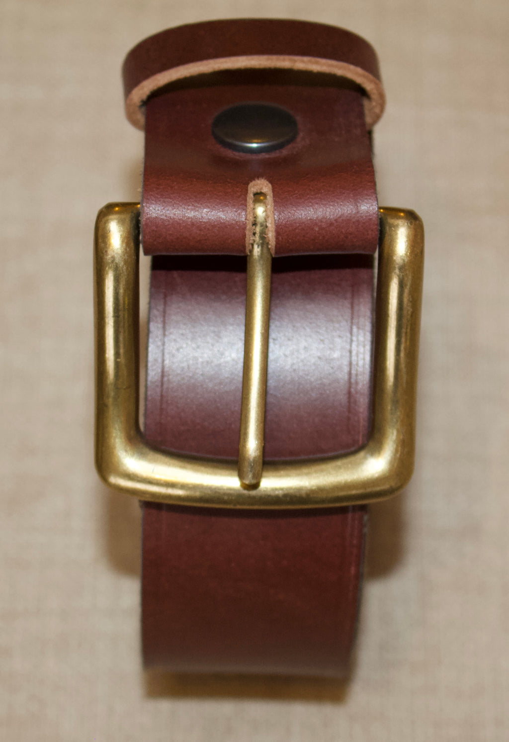 Birchwood Leather  Brown 100% Heavy Duty Hide Leather Belt.