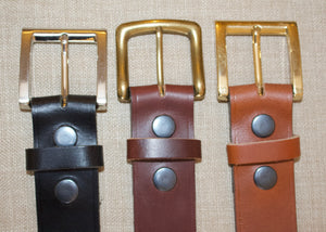 Birchwood Leather  Black, Brown and Tan 100% Heavy Duty Hide Leather Belts.