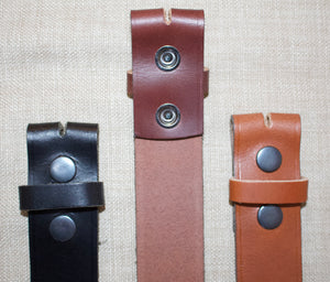 Birchwood Leather Stud Operated Black, Brown and Tan 100% Heavy Duty Hide Leather Belts (Without Buckle)
