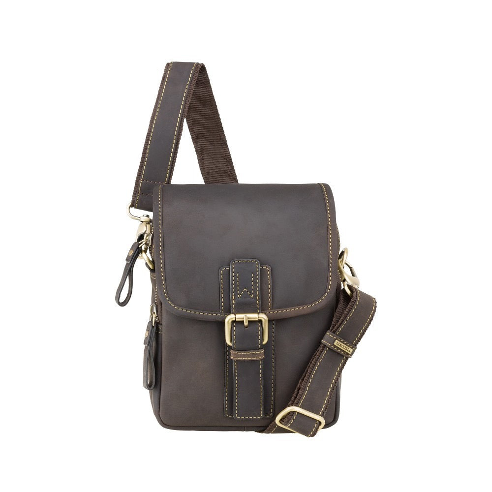Visconti Leather Reporter Bag - Oil Brown